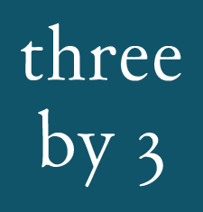 About three by 3 logo